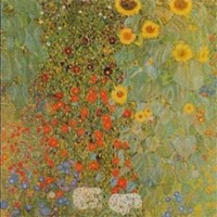 Country garden with sunflowers by Gustav Klimt
