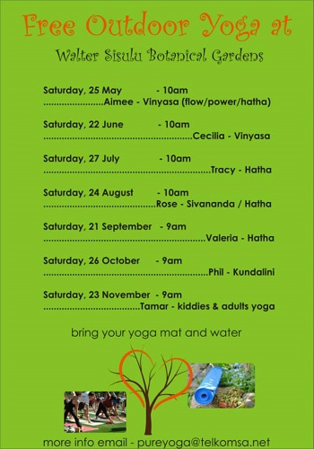Yoga At The Walter Sisulu Botanical Gardensyoga Teachers