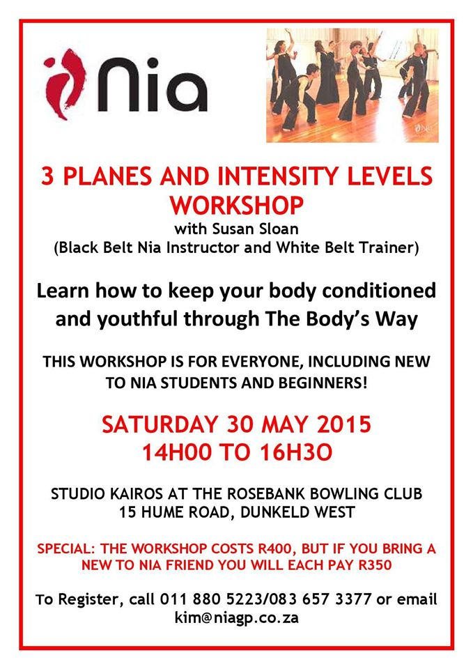 "3 Planes and Intensity Levels""Nia WorkshopYoga Teachers"