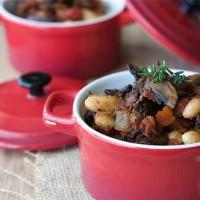 bean and mushroom ragout