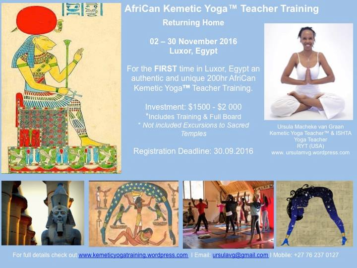 200hr AfriCan Kemetic Yoga Teacher TrainingYoga Teachers